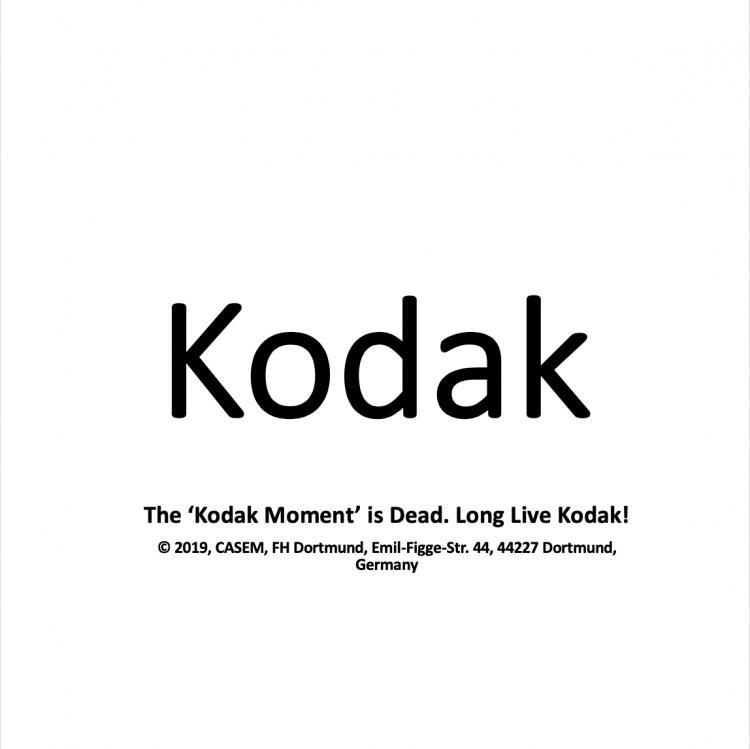 The 'Kodak Moment' is Dead. Long Live Kodak!