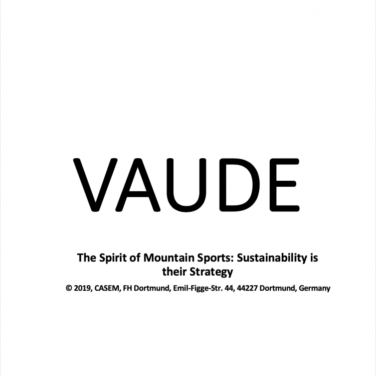 VAUDE – The Spirit of Mountain Sports: Sustainability is their Strategy