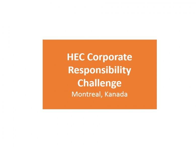HEC Corporate Responsibility Challenge