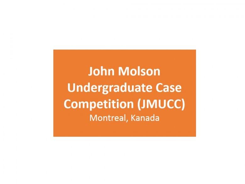 John Molson Undergraduate Case Competition (JMUCC)