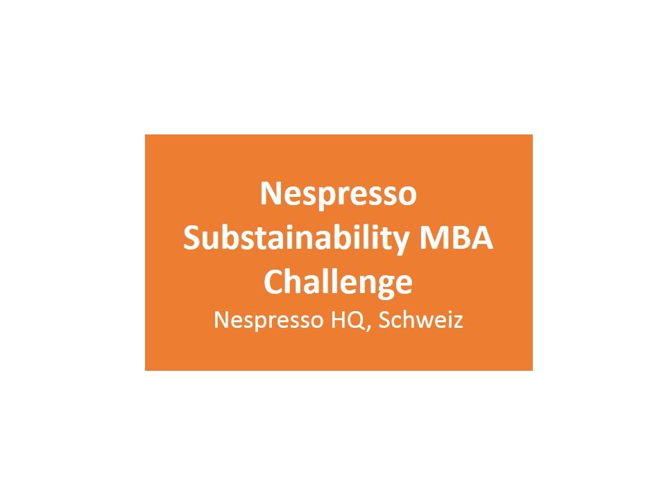 Nespresso Substainability MBA Challenge